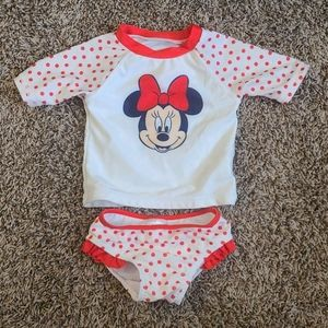 Disney Minnie Mouse Swimsuit Rashguard